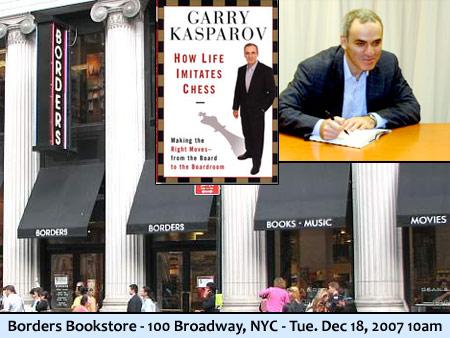 Kasparov Book Signing